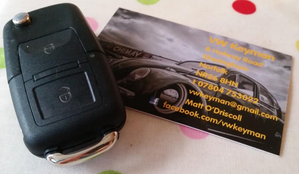 VW Key fob and VW KEYMAN business card